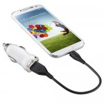 Incarcator auto GO COOL 5V-1A USB White