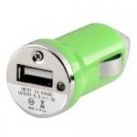 Incarcator auto GO COOL 5V-1A USB Green