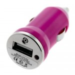 Incarcator auto GO COOL 5V-1A USB Purple