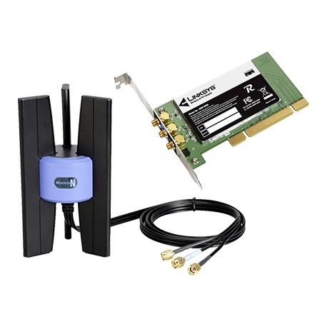 Adaptor PCI wireless N LAN Linksys WMP300N-DE