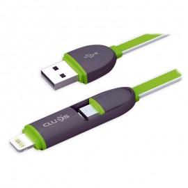 Cablu de date USB GO COOL XS-01 pentru GSM Black-Green