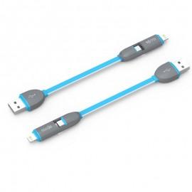 Cablu de date USB GO COOL XS-01 pentru GSM Gray-Blue