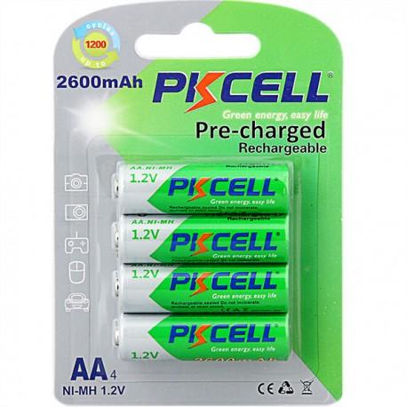 Baterii reincarcabile PkCell AA 2600 mAh 4 bucati