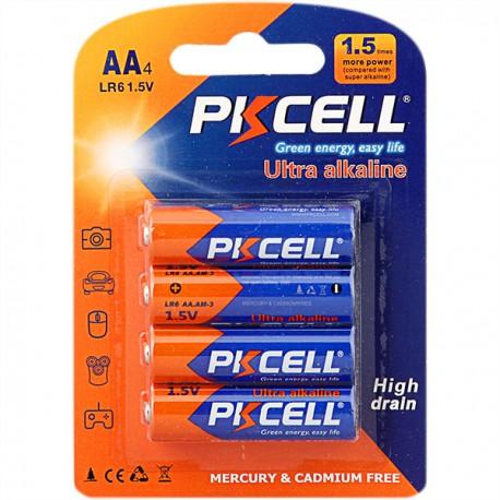 Baterii PkCell AA 1.5V 4 bucati