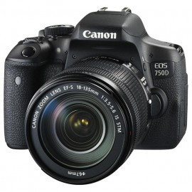 Aparat foto DSLR Canon EOS 750D, 24,2 MP + Obiectiv 18-135 IS STM KIT