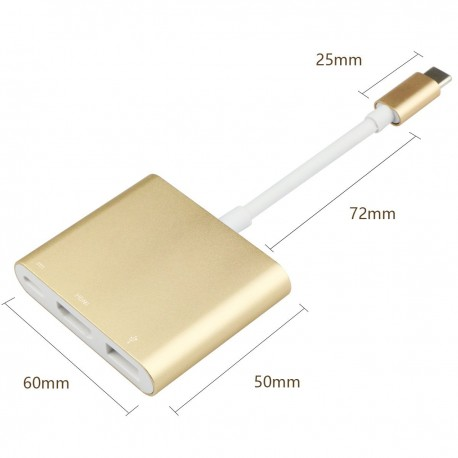 Cablu de date USB-C TO multiple GO COOL Gold