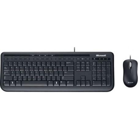 Set tastatura + mouse Microsoft Wired 600 Black