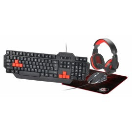 Set tastatura + mouse + casti + mousepad Gembird GGS-UMG4-01 Black