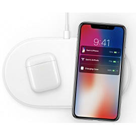 Încător Wirless pentru iPhone X, Apple Watch, White