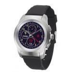 Smartwatch MyKronoz ZeTime 44mm Silver case, Black