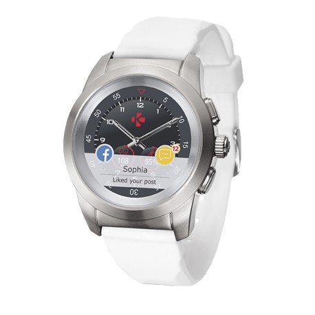 Smartwatch MyKronoz ZeTime 44mm Silver case, White