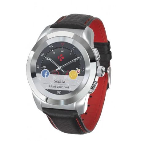 Smartwatch MyKronoz ZeTime Premium 44mm Silver case, Black Carbon
