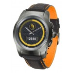 Smartwatch MyKronoz ZeTime Premium 44mm Titanium case, Black Carbon